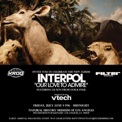 On fun juxtapositions... anyone in LA ever been to a CD Release party at the Natural History Museum? Why do i picture it like Night At the Museum with Interpol playing?