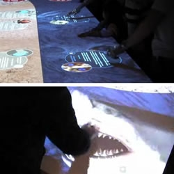 This interactive table, created by the Australian Lightwell company, is currently at display at the Australian Museum.
