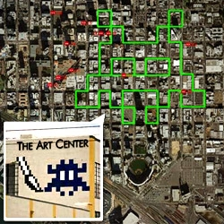 "If you get a chance  take the ""Space Invader Walk""  and find the 21 space invaders that Invader placed in in Downtown San Diego."