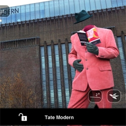 Part tour-guide part satirical commentary.  The latest mixed reality exhibition from renowned photographer John Goto; exploring London's contemporary galleries using the Layar mobile app.