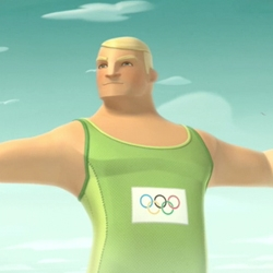 IOC new spot called All Together Now promotes the Olympic spirit through six giant 3d athletes. Really nice ilustrations.