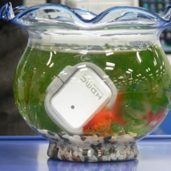 I-O Data Corporation Japan developed this amazing water proof and crash proof 1 inch 8GB and 12 GB HDD! Is Christmas near?