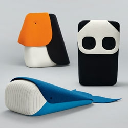 'Zoo' by french designer Ionna Vautrin contains a toucan, a panda and a whale. One meter tall and wondrously oversized. Super cute.