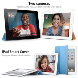 Finally! The new iPad 2 ~ front and rear video cameras, HD output, and love the multifunctional magnetic covers!