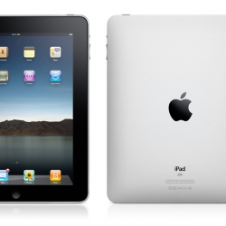 The new Apple device, the iPad. The missing link between your iPhone and iMac