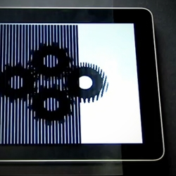 Animations created by Brusspup using an iPad by passing a transparent sheet with black lines over the screen.