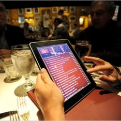 This month, the Italian restaurant De Santos, located in the West Village, became the first in New York to use iPads as its ordering and payment system.