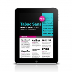 Type Specimen is the first font viewer for iPad, revolutionizing the way digital fonts are presented today.