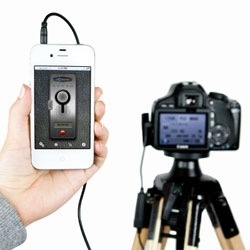 The ioShutter Camera Remote - Turn your iPhone, iPad, or iTouch into a 6-in-1 intelligent remote trigger for your camera. 6 modes: standard trigger, motion trigger, sound trigger, time-lapse, timer, and bulb.