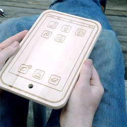 myBrett's iPhone cutting board is as powerful as the Apple tree MacBook - complete with food apps...