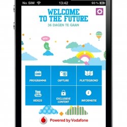 For ID&T & Vodafone, IceMobile created an iPhone and Android app for music festival 'Welcome To The Future'. Users can check info, timetable, share their fav line-up via Facebook, view exclusive content and videos.