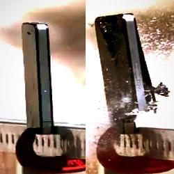 iPhone4 super slow motion sniper shot.