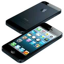 Apple announces the iPhone5 which sports a 4in retina display with 1136x640 resolution, an 8mp camera with a new sensor, and the A6 chip making it much faster. It is also thinner and lighter than previous iPhones.
