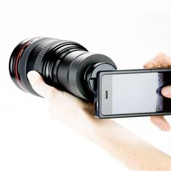 Photo Jojo's iPhone SLR mount.