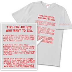 John Baldessari's 1966-68 painting, Tips for Artists Who Want to Sell shirt