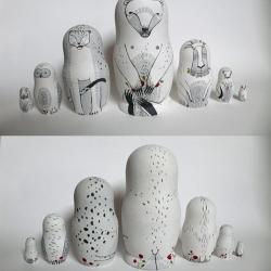 A beautiful twist on traditional Russian dolls by Irina Troitskaya!