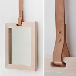 Annick L Petersen's alp design has lovely mirrors with leather straps.