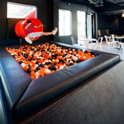 iSelect by V Arc, a Melbourne office fit-out that encourages a fun new use of space - via a slide and ball pit!