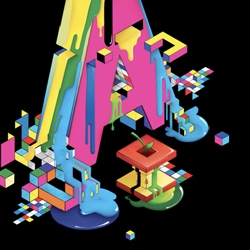 Isometric design experiments - 3D objects illustrated in a 2D environment - done by design group Vault 49. The color and method triggers thoughts of a familiar friend... the master of pixels... eboy!