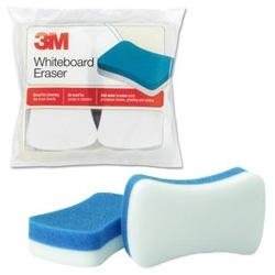 3M Whiteboard Eraser for Permanent Markers and Whiteboards - these are amazing and magic eraser like ~ just saved my whiteboard (just add water!) from super old residue...