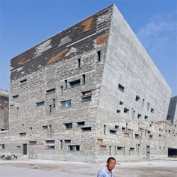 Iwan Baan photographed the Ningbo Historic Museum in China. The exterior may look harsh, but it´s an incredible stone work.