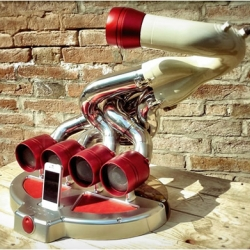Ixoost is a unique Docking station made from old cars parts!