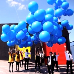 Jack White releases new single Freedom at 21 by launching 1000 balloons with Flexi Disc attached from Nashville.