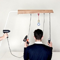 Jack in the Box by 45Kilo is a tool-furniture, it allows you to create flexible and structured working conditions. It can be a lighting object, something to load mobile phones or both.