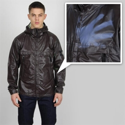 Stone Island's Heat Reactive Jacket - A hooded bomber jacket in cotton nylon canvas with thermosensitive liquid crystals - Turns from black to blue or green - Dramatic video of it in action even!