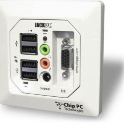 U.K. firm Jade Integration has unveiled a computer so small, it fits into a wall socket and is powered via Ethernet.