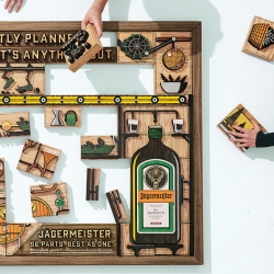 "Jagermeister, announced the launch of their nationwide ""56 Parts. Best as One"" campaign by DKNG."