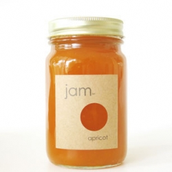 The simplicity of this containter, does not reveal the scarcity of the blenheim apricot jam  it contains which is made in extremely limited quantities. We Love Jam.