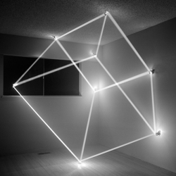 Ingenious light sculptures by James Nizam. These sculptures were created by harnessing and manipulating sunlight inside of a house before it was torn down.