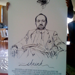 Gorgeous alternate poster for Kevin Spacey's Shrink, drawn by the amazing James Jean.