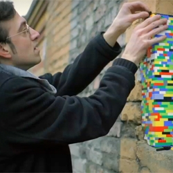 "Wørk in Progress offers video portraits of artists at work. Episode 2 features the artist Jan Vormann. The basic idea of his ongoing project ""Dispatchwork"" is to use ordinary LEGO bricks to repair holes in urban walls."