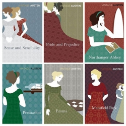 The newly release Vintage Austen Books by Random House features wonderful illustrations that are rare to Jane Austen book.