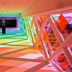 Harmonic Convergence installation by Christopher Janney, at the Miami International Airport.