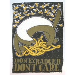 'Portable' and 'Honey Badger Don't Care', two new prints from Jay Ryan.