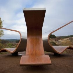 Ryder Architecture designed the Janus Chairs that have been installed at Kielder Water & Forest Park in Northumberland in North East England.