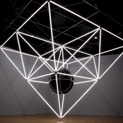 Jason Peters' 'Visceral Paradigm' light sculpture. Part of the Light Art Biennale in Lichtkunst Austria.