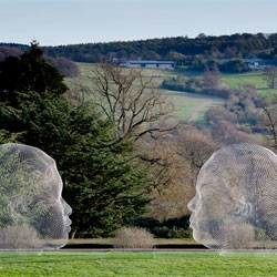 The works of Jaume Plensa at the Yorkshire Sculpture Park in Wakefield.