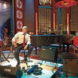However you feel about Jay Leno and his radical network experiment, his new set looks incredibly elaborate and casino-ish (in a somewhat good way)