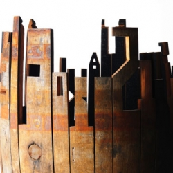 Glenfiddich barrel art by Johnson Banks