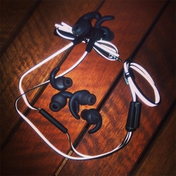 JBL Audio Synchros Reflect Sport Headphones - So many great details! Flat cord with dual sided reflective coating, magnetic ear buds, super comfortable secure ergo buds, sweat proof, windproof mic and more...