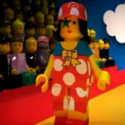 LEGO 3D runway from Fashion Designer Jean Charles de Castelbajac - So cool !