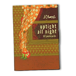 Uptight All Night ~ 30 postcard book for a mere 10$ ~ Its like a mini best of Jordan Crane... you can fill your wall with mini frames of his goodness - cheap!