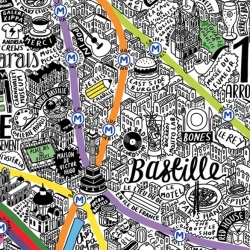 PARIS MAPPED IN STYLE - Berlin, London, New York, San Francisco and now Paris. Evermade Hand Drawn Maps.
