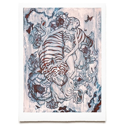 James Jean Tiger III Print - timed print sale on Aug 19, 2014 8am PDT for 24 hours!
