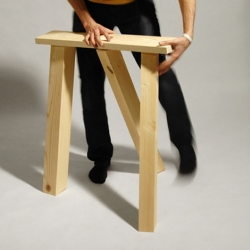 1234 is a nice three-legged trestle for your desk or any other table. By french designer Jeancharles Amey.