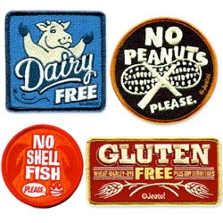 Cute food allergy patches by Jeeto!